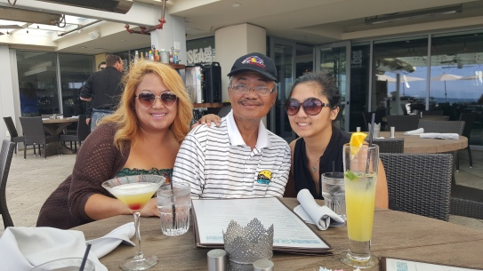 Drinks (for Misty and I) and lunch with Dad