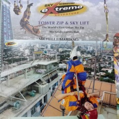 Ziplining of the top of the highest building in Cebu (upside down!)