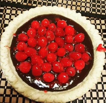 Chocolate Ganache Tart with Raspberries