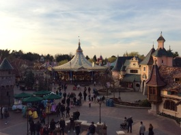 View of Fantasyland from the castle